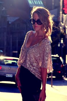 Oh, I love this one. Sparkly me.  B.