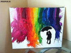 Rainbow rain - love this.