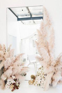 feather floral arrangements. / sfgirlbybay