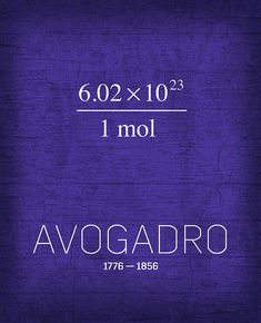 The Inventors Series 031 Avogadro. A growing series of minimalistic designs celebrating the men and women of science and discovery who have shaped our world.