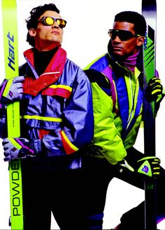 1980s Skiing | 1980s ski style | retro ski clothing | SKI Magazine Read more about The Fashion of Downhill at www.khunu.com/blogs/khunuworld