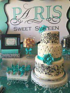 Sweet-Sixteen-Paris-Style-Birthday-Cake