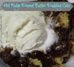 Hot Fudge Peanut Butter Pudding Cake (Slow Cooker) - ingredients you already have on hand!