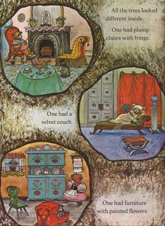 Another book (The 14 Bears in Summer and Winter) I used to spend a lot of time studying. There were so many different bear houses to look at! Hours of entertainment :)