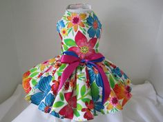 Dog Dress  XS  Flowers  Nina's Couture by NinasCoutureCloset, $35.00