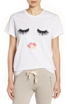 Free shipping and returns on Sincerely Jules 'Lips & Lashes' Graphic Tee at Nordstrom.com. A classic white cotton tee gets a playful update in the form of a screenprinted rosy pout and feathery eyelashes.
