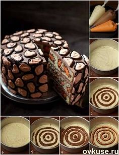 30 Surprise-Inside Cake Ideas (with pictures & recipes) Leopard Print Surprise Cake. There are lots of surprise-inside cakes at this link, but I like this one because it seems a lot simpler. Cheetah Cakes, Leopard Cake, Giraffe Cakes, Leopard Spots, Leopard Animal, Food Cakes, Cupcake Cakes, Icing Cupcakes, Frosting
