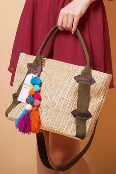 Straw Handbags, How To Make Handbags, Straw Bag, Burlap, Reusable Tote Bags, Fabric, Women, Tejido, Tela