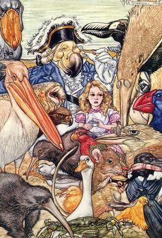'Alice in Wonderland'  illustration by Angel Dominguez