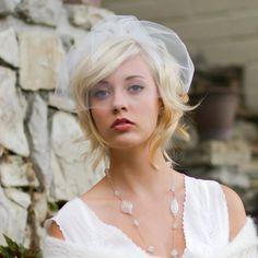 Voile de mariée, voile de cage, accessoire de coiffure mariage, voile de fard à joues mini, prêt à être expédier, Style 772
