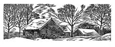 Silent Snow, wood engraving