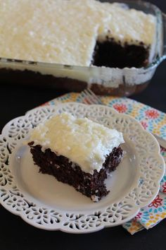 This homemade coconut frosting on a simple chocolate, white, or yellow cake or cupcake is an easy, yet delicious, dessert!