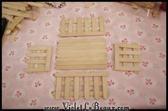 Popsicle Stick Craft Tutorial- White Picket Fence Make Up Box - Violet LeBeaux - Tales of an Ingenue Popsicle Stick Crafts, Popsicle Sticks, Craft Stick Crafts, Resin Crafts, Cute Crafts, Diy And Crafts, Crafts For Kids, Summer Crafts, Pig Party