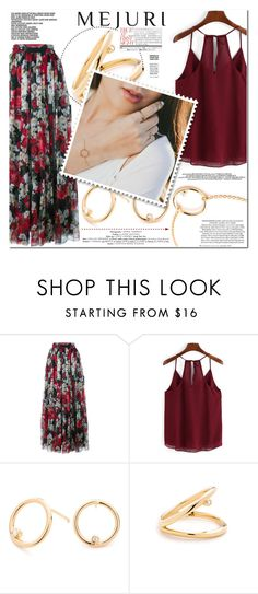 """""""Grace: Jen Chae x Mejuri"""" by es-vee ❤ liked on Polyvore featuring Dolce&Gabbana, Chloé, Hemingway, contestentry and jenchaexmejuri"""