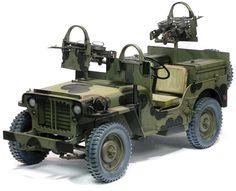 Dragon Models 1/6 Scale - SAS 1/4 Ton Truck European Jeep Model Kit