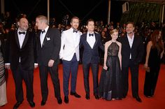 Producer Joel Silver, director Shane Black, actor Ryan Gosling, actor Matt Bomer, actress Angourie Rice, actor Russell Crowe and actress Murielle Telio attend 'The Nice Guys' premiere during the 69th annual Cannes Film Festival at the Palais des Festivals on May 15, 2016 in Cannes, France.