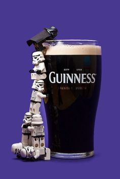 I wouldn't have pegged Darth Vader as a Guiness Lover