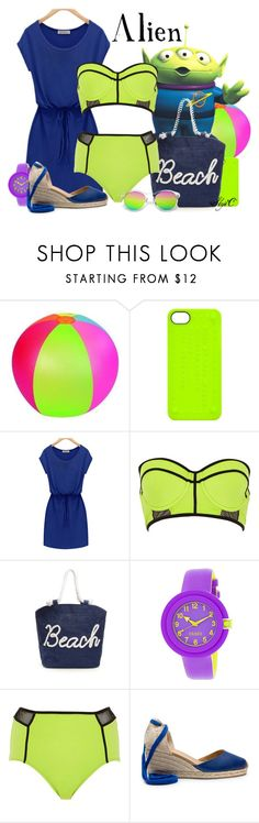 """Alien - Beach / Summer - Disney Pixar's Toy Story"" by rubytyra ❤ liked on Polyvore featuring Marc by Marc Jacobs, River Island and Crayo"