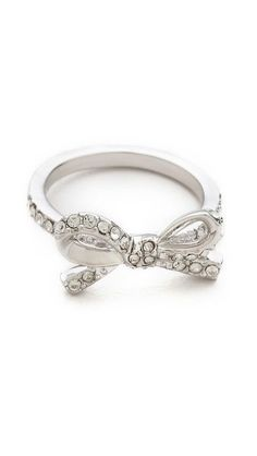 Skinny Mini Pave Bow Ring