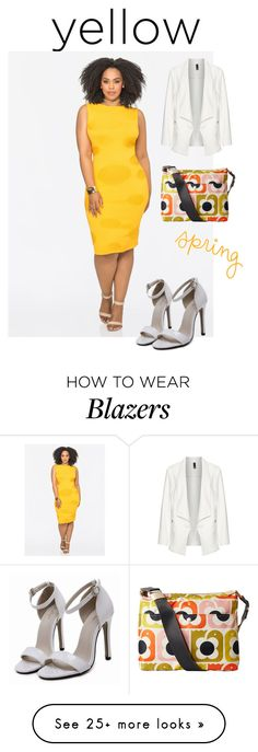 """""""Yellow Dress"""" by shistyle on Polyvore featuring Ashley Stewart, Orla Kiely, Manon Baptiste and yellowdress"""