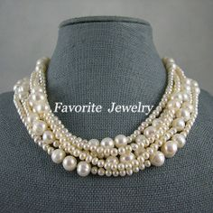 Pearl Necklace, Wedding Pearl Necklace