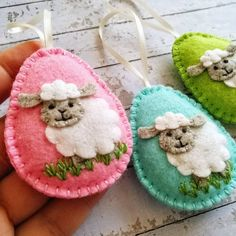 Items similar to Lamb Easter decoration, Felt Eggs with sheep ornament, Easter Lamb ornament, Felt Easter ornaments / 1 egg / MADE TO ORDER on Etsy Easter Crafts, Felt Crafts, Easter Gift, Easter Candy, Easter Decor, Easter Flowers, Easter Tree, Daffodil Flower, Easter Lamb