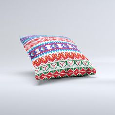 The Vector White-Blue-Red Aztec Pattern ink-Fuzed by TheSkinDudes