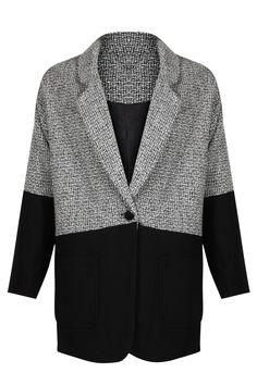 a627db77664 Black Grey Boyfriend Contrast Coat Preview