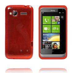 TPU Shell Transparent (Rød) HTC Radar Cover