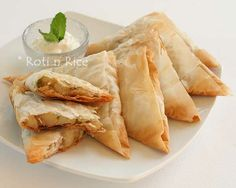 phyllo dough triangles in phyllo potato samosa phyllo triangles phyllo ...