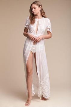 6504f020121 BHLDN Olivia Embroidered Robe in New