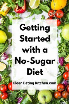 Sugar Free Recipes Dinner, Sugar Free Diet Plan, Sugar Free Eating, Sugar Free Meals, Sugar Free Food List, Clean Eating Food List, Clean Eating Dinner, Clean Eating Recipes, Diet Recipes