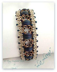 Tutorial/Beading pattern La Luna Bracelet in by EnvyBeadwork