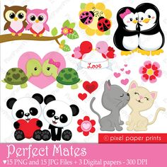 This is a set of 15 PNG files with transparent background, 15 JPG FILES and 3 different digital paper designs