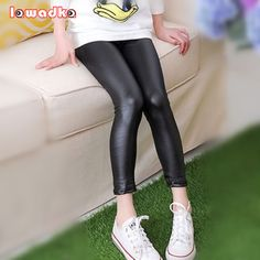 Thin Girls Faux Leather Pants Fashion Leggings Spring Children Pants  FREE Shipping Worldwide  Get It here ---> https://teensdress.com/thin-girls-faux-leather-pants-fashion-leggings-spring-children-pants/