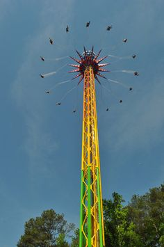 SkyScreamer, a 24-story extreme swing ride is now open at Six Flags Over Georgia - It's 40 feet taller than the park's tallest roller coaster.