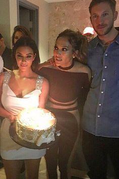 Pin for Later: Calvin Harris und Kim Kardashian feiern zusammen Jennifer Lopez' Geburtstag