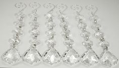 6 pc Hanging Crystal Garland Strands with by weddingbridaldecor