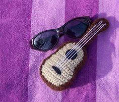 sunglasses and crochet ukulele Pineapple Ukulele, Crochet Music, Some Fun, Fun Projects, Puppets, Embroidery, Play, Dolls, Sunglasses