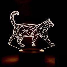 "Grab this 3D illusion walking cat lamp night light while you still can! - Illuminates in 7 colors: (press the button to change the colors) - 1 x USB Cable - Size : Approx. 8"" x 6"" - The piece creates"