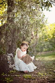 I should really get a picture of Sylvie reading under a tree, to capture her love of reading right now. Such a sweet image!