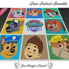 Paw Patrol C2C Crochet Graph Bundle | Craftsy $6.25
