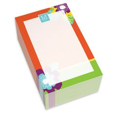 Orange Modern Blooms Chunky Notepads