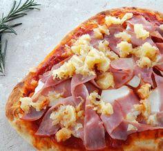 Ham & Pineapple Naan Pizza • using Thin 'n Trim #Ham Deli Meat !