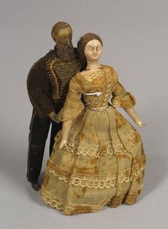 Two Early Wooden Dolls, Germany, Mid 19th Century