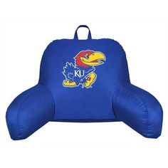 Kansas Jayhawks Bed Rest Back Support Pillow