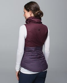 "We designed this water-resistant puffy vest to warm us up without bringing on too much  heat. The oversized collar and 800-fill-power  goose down make it easy to cuddle ""down"" into. A slim fit means we can layer it easily under a jacket or over our favourite mid-layer."