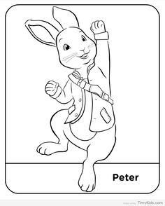 Velveteen rabbit and coloring pages ~ Coloriage PIERRE LAPIN à imprimer | Drawing & coloring ...