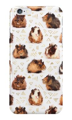 """""""The Essential Guinea Pig"""" iPhone Cases & Skins by micklyn   Redbubble #guineapigs #pet #cute"""