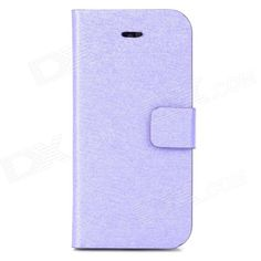 Brand: N/A; Quantity: 1 Piece; Color: Purple; Material: PU leather + plastic; Compatible Models: Iphone 5C; Other Features: With 2 card holder slots; Protects your device from scratches dust and shock; Packing List: 1 x Protective case; http://j.mp/1v2DF63